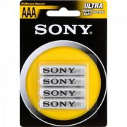Pilha Sony Zinco Carbono Palito AAA 4 Un. R03-NUB4A 24278