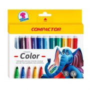 Pincel Compactor Color Estojo 12 Cores 02808