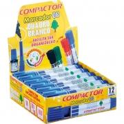 Pincel Marcador Quadro Branco Compactor Azul 12 Un 1600001 26588