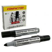 Pincel Marcador Quadro Branco Compactor Preta 12 Un 1600004 26590