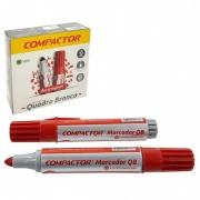 Pincel Marcador Quadro Branco Compactor Vermelho 12 Un 1600002 26589