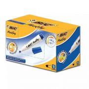 Pincel para Quadro Branco Bic Recarregável Azul Caixa Com 12 Un. 20037