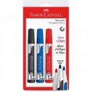 Pincel Para Quadro Branco Faber-Castell Kit 3 Cores SM/Mqb2 29384