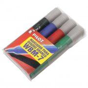 Pincel para Quadro Branco Wbm-7 com 4 Cores Azul/Preto/Vermelho/Verde Pilot 15036
