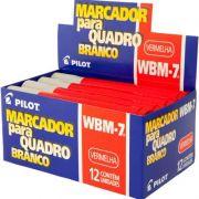 Marcador Para Quadro Branco Azul WBM-7 Vermelho Caixa Com 12 Un. Pilot 03534
