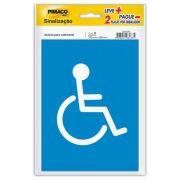 Placa de Sinalização Adesivo Pimaco 14X19Cm Acesso Cadeirante 15716