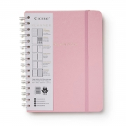 Planner Cicero A5 Wire-O Pastel Rosa Semanal 0495 30022