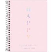 Planner Happy Capa Dura Espiral 2022 Rosa 304531 Tilibra 29471