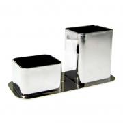 Porta Canetas / Clips Dello Metalizado Prata 3030.O.0012 27138