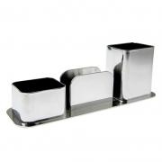 Porta Canetas / Clips / Lembrete Dello Metalizado Prata 3031.O.0012 27139