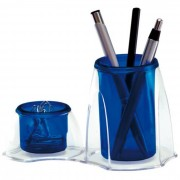 Porta Lápis e Clips Azul Duocolor 3021C Dello 15174