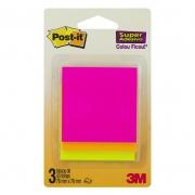 Blocos de Notas Adesivas Post-it® Cascata - 3 Blocos de 76 mm x 76 mm - 45 folhas cada 25499
