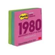 Post-It 3M Cubo 654 76mm X 76mm Coleção Decadas Anos 80 270 Fls HB004660328 29386
