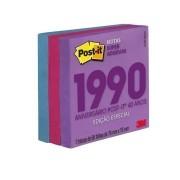 Post-It 3M Cubo 654 76mm X 76mm Coleção Decadas - Anos 90 270 Fls HB004660336 29387