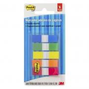 Marcador de Página Adesivo Post-it® Flags 5 Cores Sortidas 11,9 mm x 43,2 mm - 100 folhas 24022