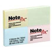 Post-It 3M Notefix 38mm X 50mm 4 Blocos Cores Amarelo, Verde, Azul e Rosa NFX3 HB004649636 28956