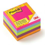 Bloco de Notas Adesivas Post-it® Cubo Tropical 76 mm x 76 mm - 450 folhas 23206