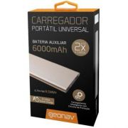 Power Bank (Carregador Portátil) Universal Pb6000G Golden 6000Mah Geonav 24216