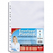 Refil Plástico 13 Furos A4 Com 10 Un. 1592-6 Chies 10586