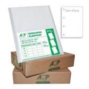 Saco Plástico com 4 Furos Oficio (240X325) Com 100 Sacos 0.12 ACP 07906