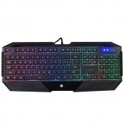 Teclado Gamer HP LED ABNT2 Preto K110 30126