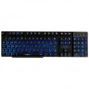 Teclado Gamer Semi Mecânico OEX Force-X LED ABNT2 USB Preto TC201 30116
