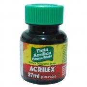 Tinta Acrilica Acrilex Fosca 37ml Preto 520 03540 25295