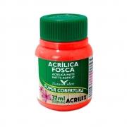 Tinta Acrilica Acrilex Fosca 37ml Vermelho Fogo 507 03540 25290
