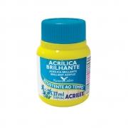 Tinta Acrilica Brilhante Acrilex 37ml Amarelo Limao 504 03340 05365
