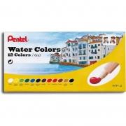 Tinta Aquarela Pentel 12 Cores Water Colors HTP-12B 26652