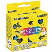 Tinta Confetti Acrilex 15Ml 6 Cores Sortidas 02415 14995