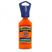Tinta Dimensional Relevo 3D Acrilex 35ml Laranja 517 12112 05381