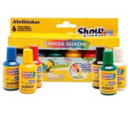 Tinta Guache Acrilex 18Ml 6 Cores Color Show 26500