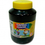Tinta Guache Acrilex 500Ml Preto 520 020500520 25241