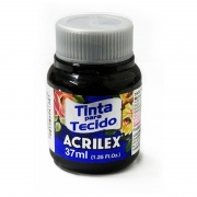 Tinta Tecido Acrilex 37ml Preto 520 04140 04009
