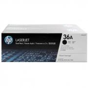 Toner HP 36A Preto Dual Pack Laserjet Original (CB436AE) 22081