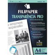 Transparência Copiadora paraB A4 com Tarja Env com 100 Fls 02607 Filipaper 11529