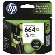 Cartucho HP 664 XL Colorido Original (F6V30AB) 22556