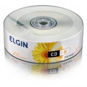 CD-R Elgin 700Mb Pino Com 25 Un. 82160/82178 15216