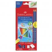 Lápis de Cor 12 Cores Triangular 120512 Faber-Castell 11098