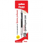Lapiseira 0.5mm Preta Graphgear PG525-A Pentel 09853