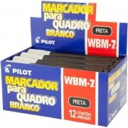Marcador Para Quadro Branco Preto WBM-7 Preto Caixa Com 12 Un. Pilot 03532