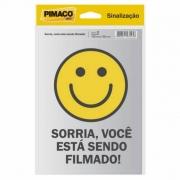 Placa de Sinalização Adesivo Pimaco 14X19Cm Você Esta Sendo Filmado 15721