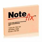 Bloco Adesivo Notefix Laranja - 76mm x 102mm - 100 folhas 03903