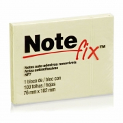 Bloco Adesivo Notefix Amarelo 76 mm x 102 mm - 100 folhas 12837