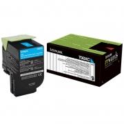 Toner Lexmark 70C8Hc0 Ciano 20643