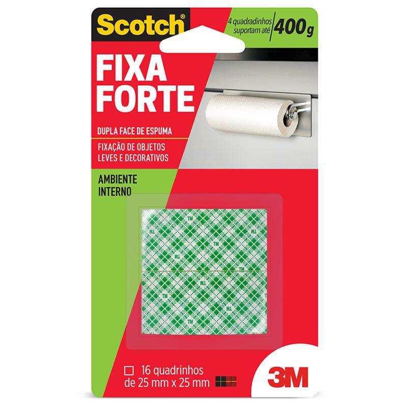 Adesivo Dupla Face Fixa Forte 400g 25mm X 25mm 3M Scotch 15097 - PORT -  Papelaria 1c3f30b561