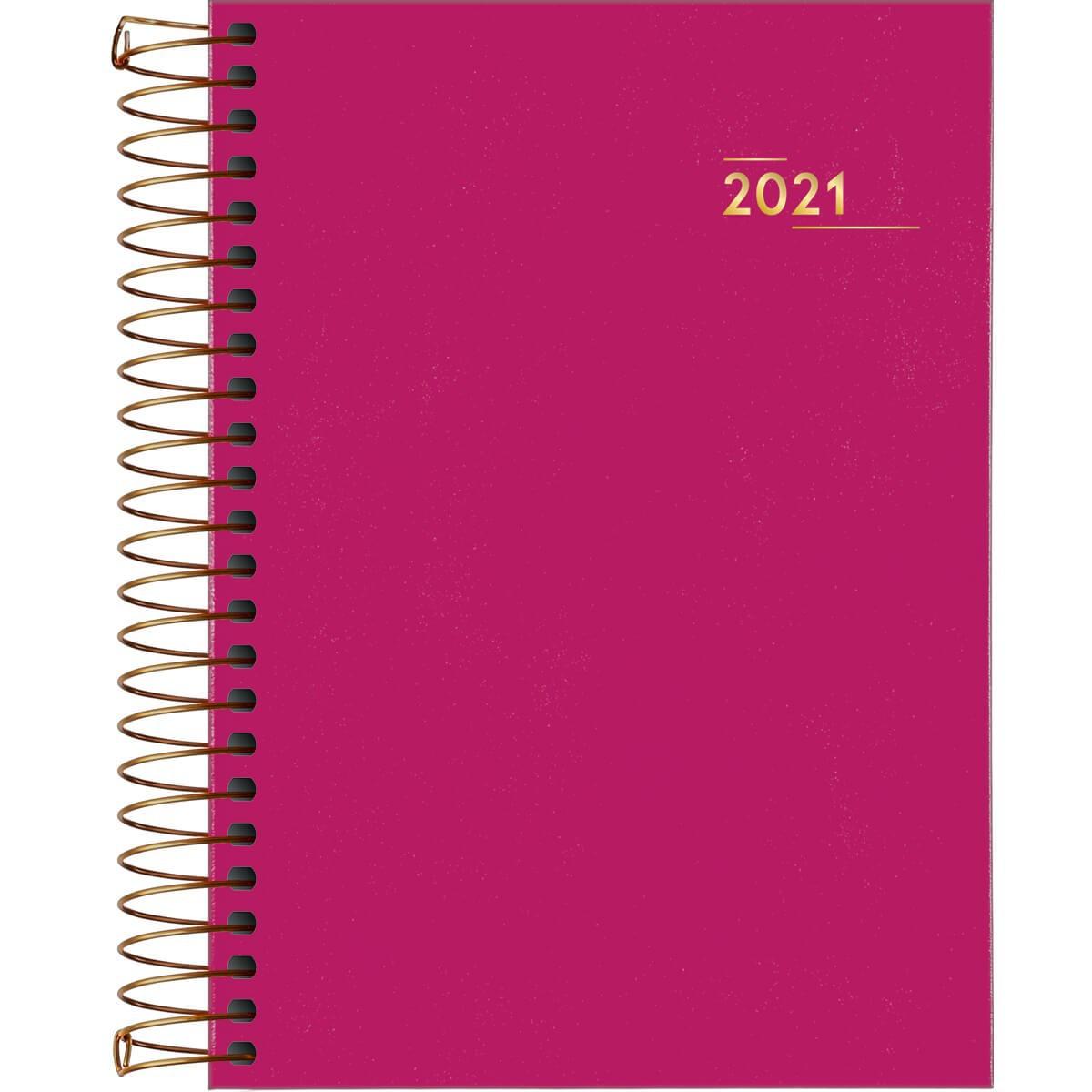 Agenda Tilibra 2021 Executiva Diária Napoli Espiral Rosa 145530 29464