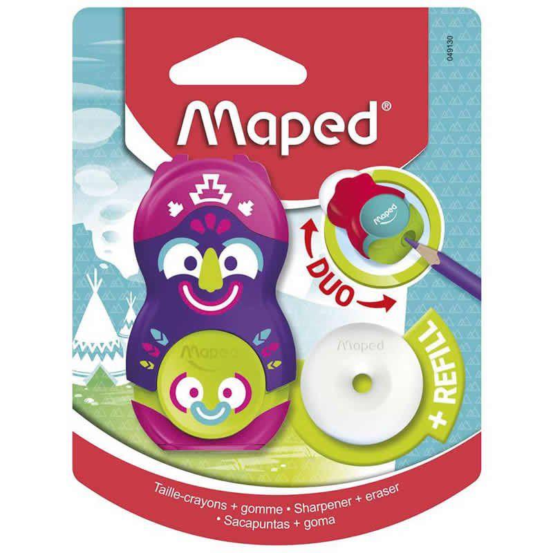 Apontador Com Deposito + Borracha Maped Loopy Totem 049130 26466