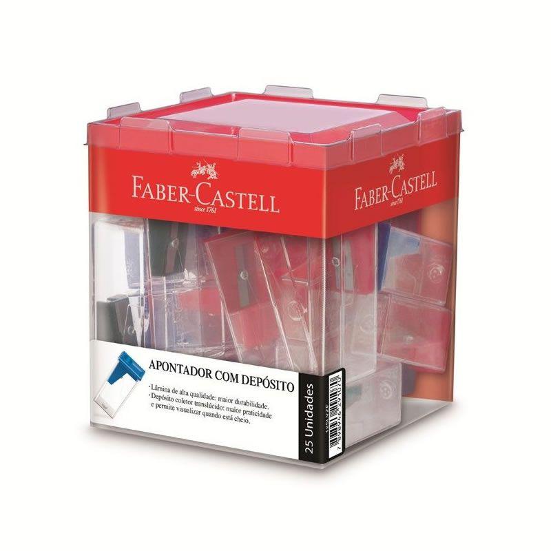 Apontador Com Deposito Faber-Castell 25 Un. Sortido 125Lvzf 03242